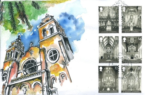 British Cathedral First Day Cover, Lim. ed