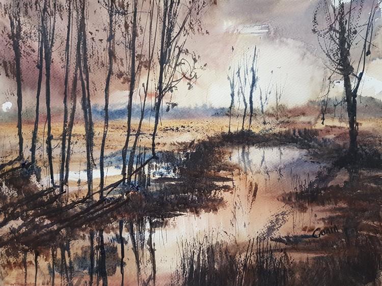 'Evening Light' Watercolour Painting
