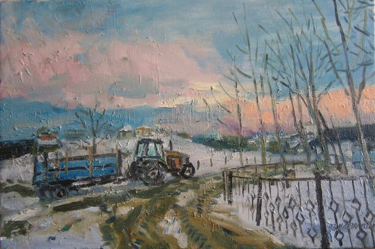 'WINTER EVENING'  2015. Oil on canvas, 40x60cm.