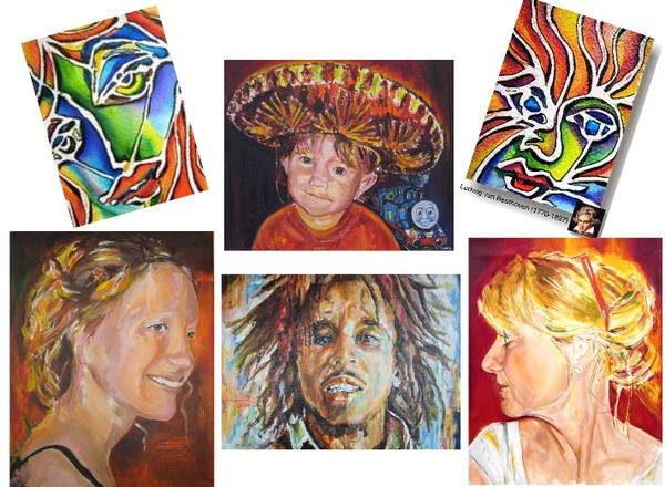 Some of the portraits I painted