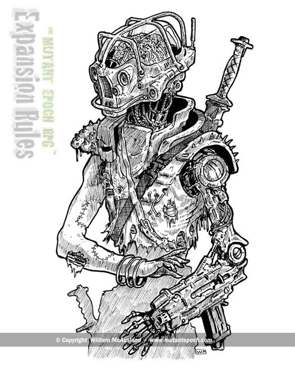 Vat-Brain Torso with sword on back
