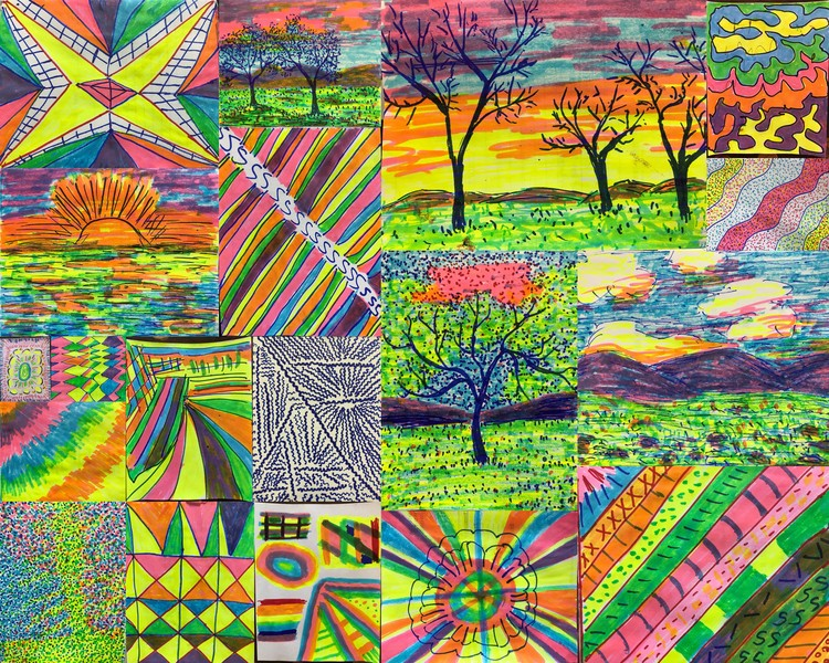 Collage Marker Paintings