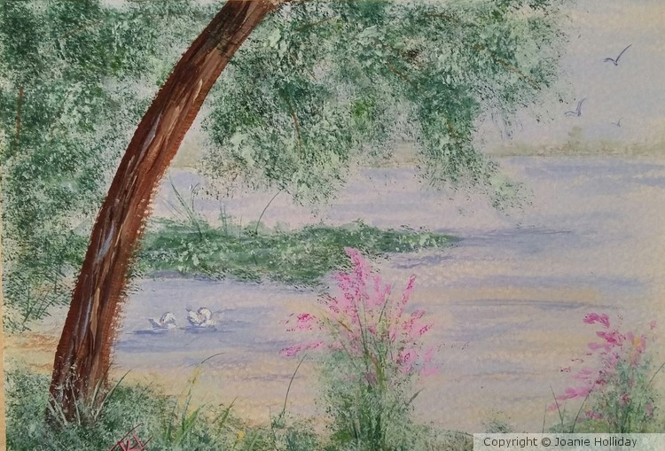 OUT FRONT, ROUND LAKE, WATERCOLOR