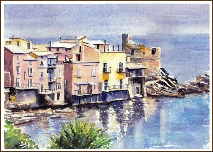 Village on the Corsican coast