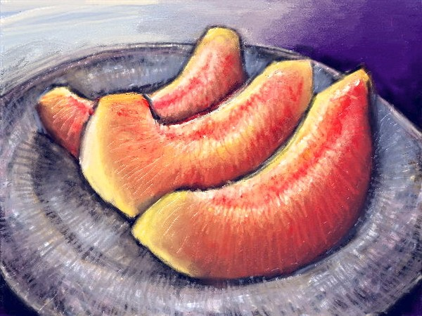 Melon Slices - Digital Painting 8x10 Print