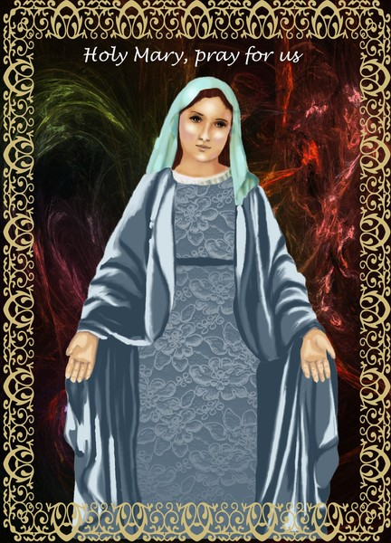 Devotion Card of the Holy Virgin Mary