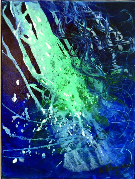 #2 Blue - Ocean Series - framed