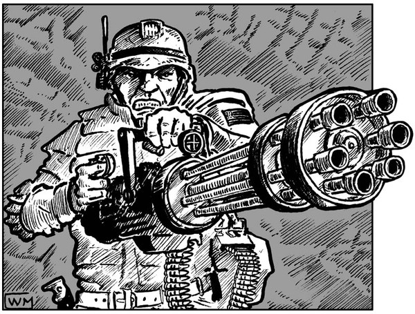 Pure Stock Corporate Warrior with chain gun