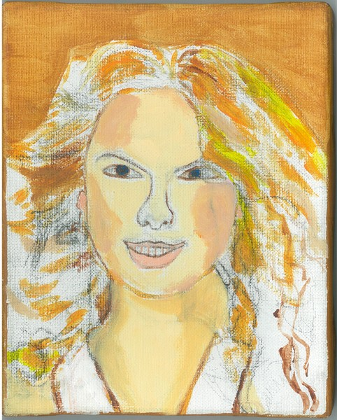 Canvas Transfer Painting of Taylor Swift