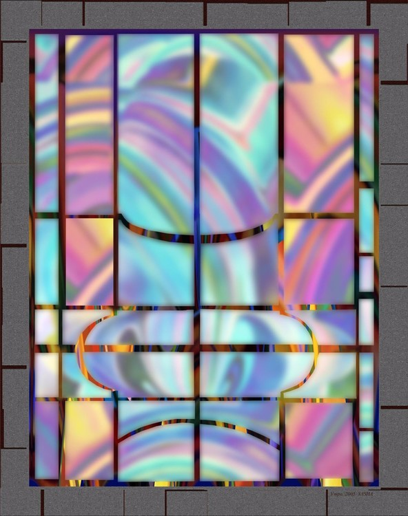 Morning. Stained-glass window