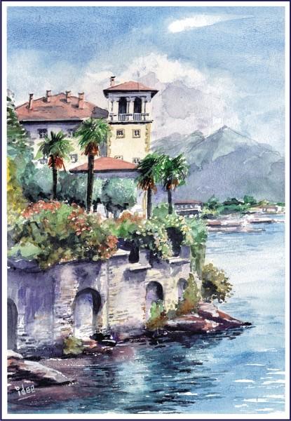 Italian villa with a view