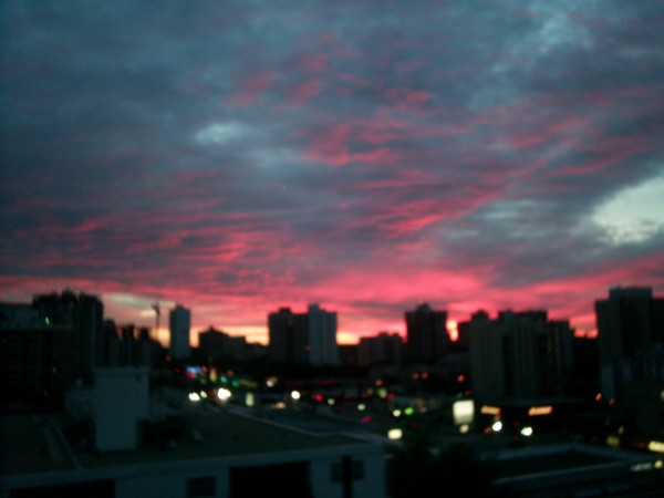 pinky red sunet