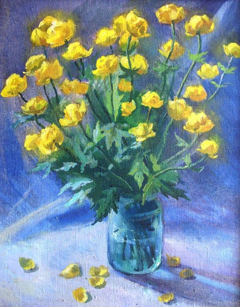 Still Life with Globeflowers