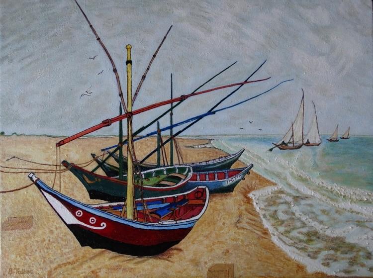 Study of 'Fishing Boats Saintes Maries de-Mer'