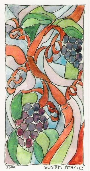 grape vine watercolor