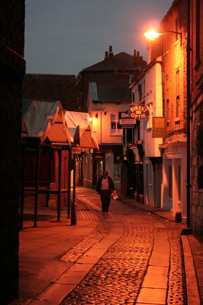 THE SHAMBLES AT NIGHT