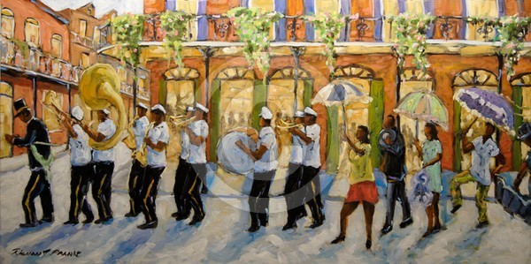 Bourbon Street Second Line New Orleans_SOLD