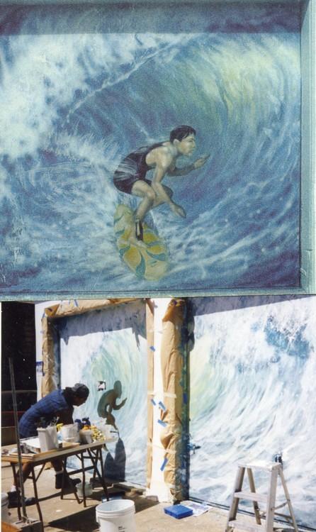Sufer Mural