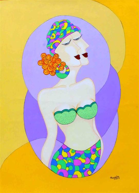 Lady original acrylic