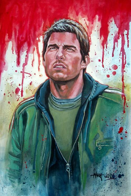 Tom Cruise   Designer gouache by aaronwty