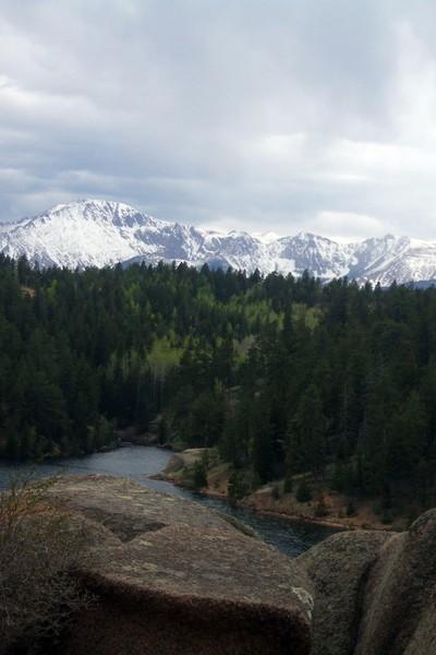 Pikes Peak from Rampart Reservoir