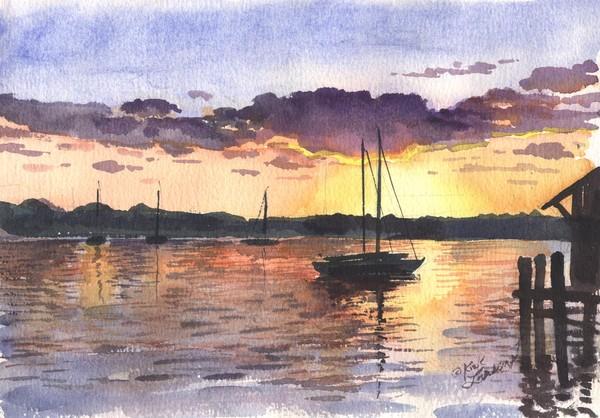 Sunset on Southington Harbor