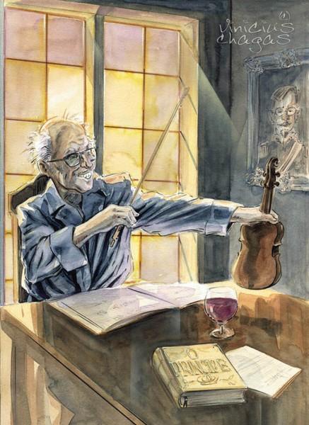 Apolinário and his violin
