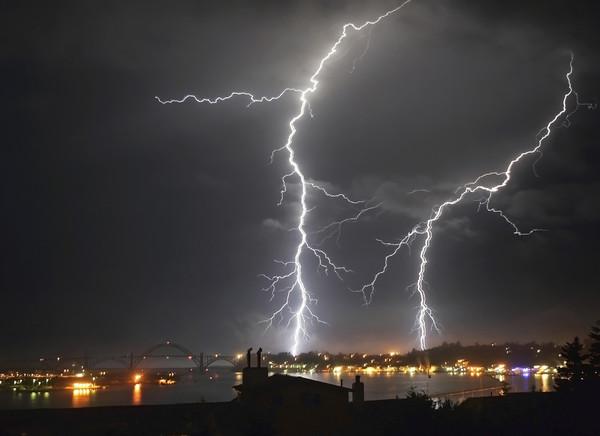 Lightning Over Yaquina Bay