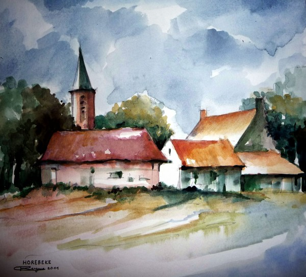 View on 'Horebeke' (East-Flanders)