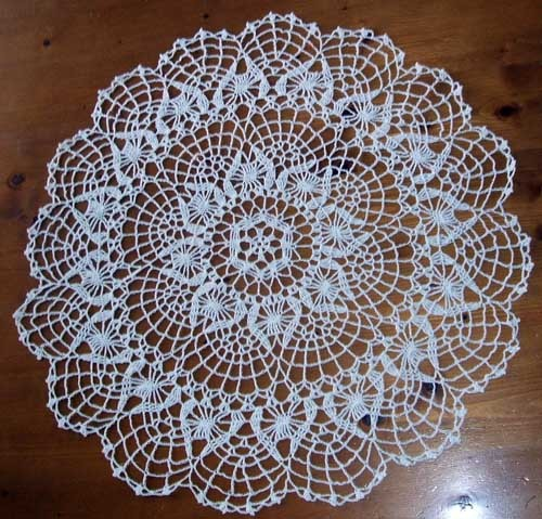 Pomegranite and Cluster Stich Doilies