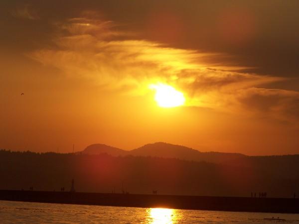 Sun set at the Sea Wall #2