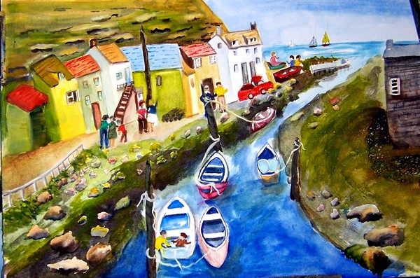Staithes in Yorkshire, England