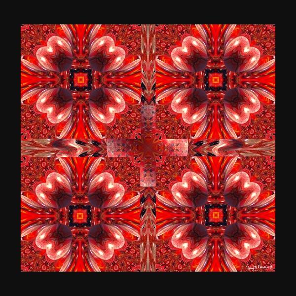 Ruby Flames Cross