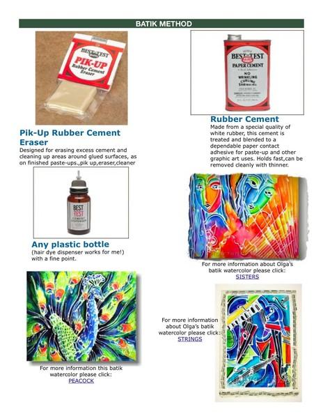 WORKSHOP batik method (watercolor)