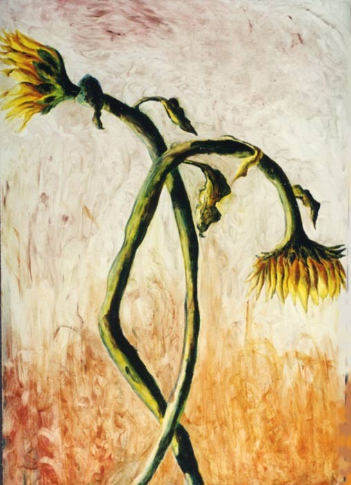 flower painting sunflower paintings artist raphael perez   flowers artworks