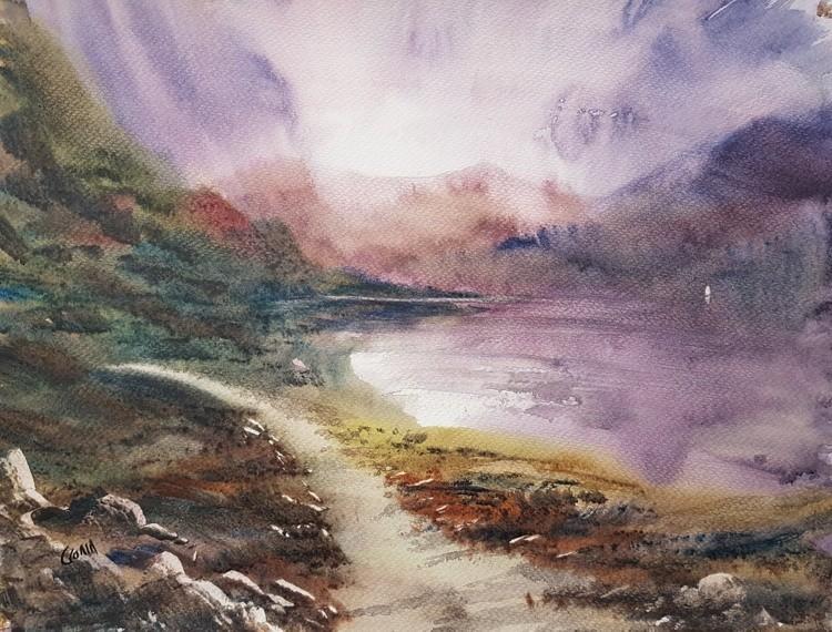 Loch Morar Watercolour Painting by Steven Cronin