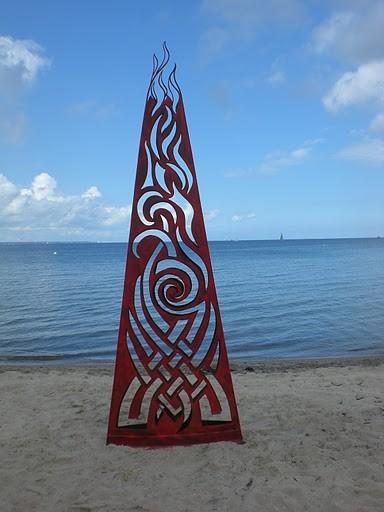 Fantasy fire sculpture