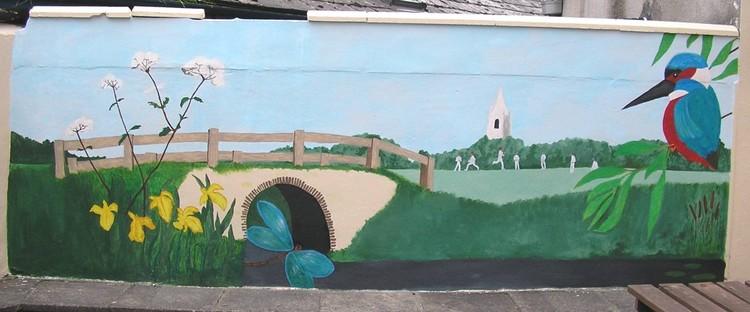 Mural for beer garden