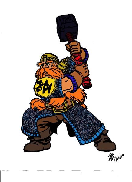 Colored Dwarf Warrior