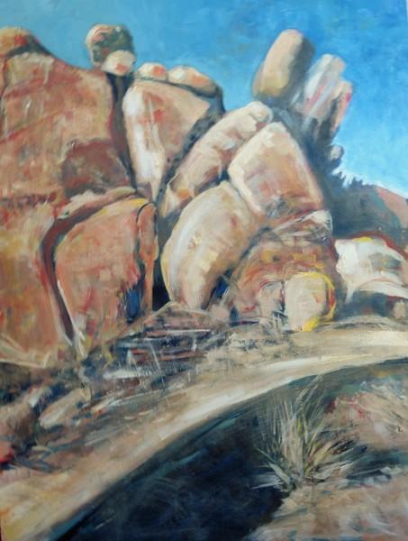 High Desert Rocky Hillside Scenery