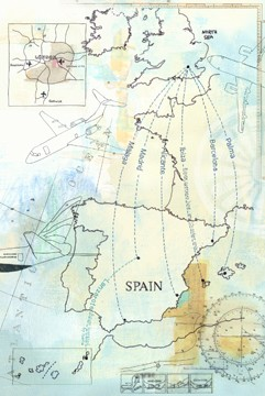 BA flight-route to spain