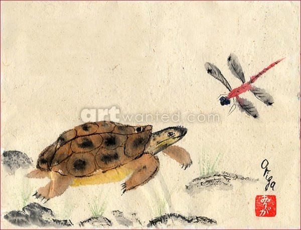 TURTLE & DRAGONFLY.