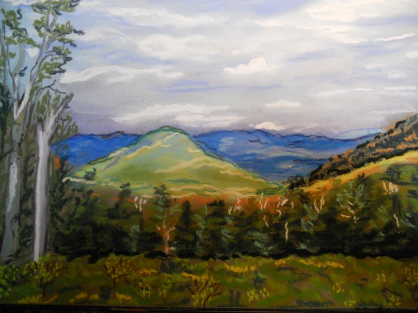 mountains,my latest pastel