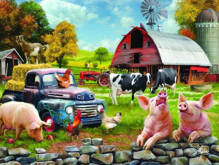 SMS-American Farm Scene