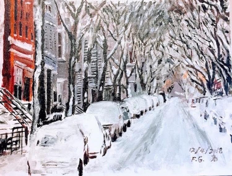 last Night Snow in Brooklyn
