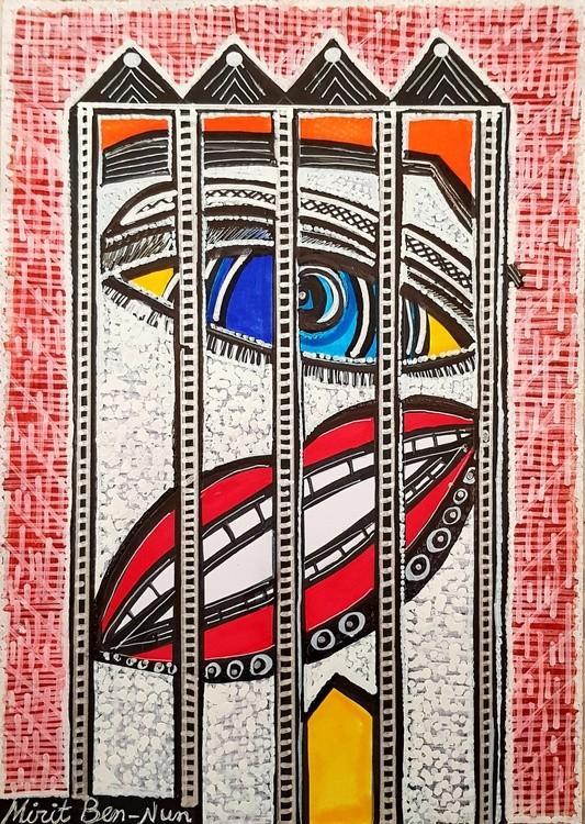 Israel art  woman artist painter modern paintings Mirit Ben-Nun