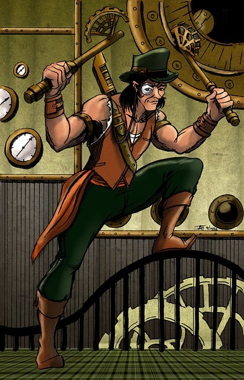 Steampunk Pirate on the Prowl