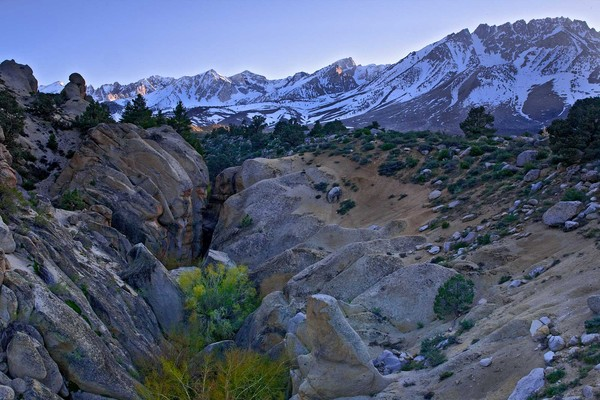 Piute Crags, Mount Humphries, and Basin Mountain