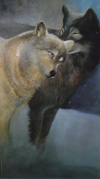 loving wolves from mural