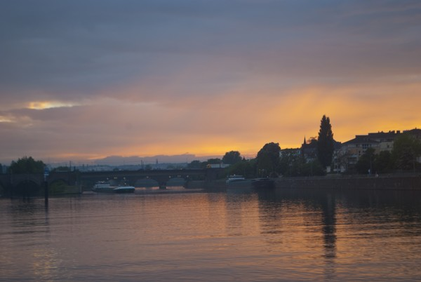 Sunset on the Mosel River